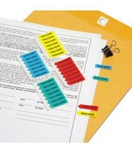 """Redi-Tag 5/16"""" x 1-1/4"""" """"Sign Here"""" Mini Arrow Page Flags, Assorted, 126 Flags/Pack"""