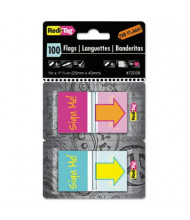 """Redi-Flag """"Sign Me!"""" Pop-Up Fab Flags with Dispenser, 100/Pack"""