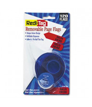 """Redi-Tag 9/16"""" x 1-3/4"""" """"Sign Here"""" Message Arrow Page Flags, Red, 120 Flags/Pack"""