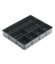 Rubbermaid 7-Compartment Extra-Deep Desk Drawer Director Tray, Black