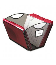 "Safco 13-3/4"" D Letter Mesh Desktop Tub File Storage Box, Black"