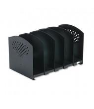 Safco 5-Compartment Adjustable Book Rack, Black