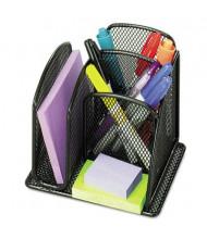 Safco 3-Section Onyx Mini Mesh Desk Organizer, Black