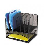 Safco 8-Section Onyx Steel Mesh Desk Organizer, Black
