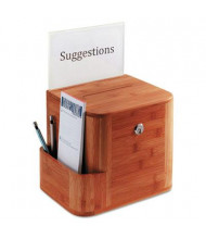 """Safco Suggestion Boxes, 10"""" W x 8"""" H x 14"""" D, Cherry Bamboo"""