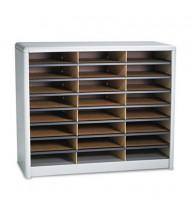 Safco 24-Compartment Value Steel & Fiberboard Literature Sorter, Gray