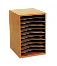 Safco 11-Section Vertical Wood Desktop Literature Sorter, Oak