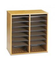 Safco 16-Section Adjustable Wood and Laminate Literature Sorter, Oak