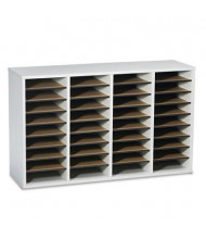 Safco 36-Compartment Adjustable Wood & Laminate Literature Sorter, Gray