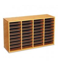 Safco 36-Compartment Adjustable Wood & Laminate Literature Sorter, Oak