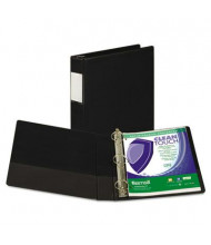 "Samsill 1-1/2"" Capacity 8-1/2"" x 11"" Straight Ring Clean Touch Non-View Binder, Black"