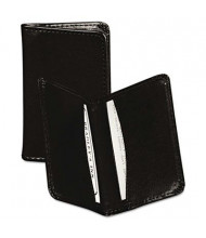 "Samsill Regal Leather Business Card Wallet Holds 25 2"" x 3 1/2"" Cards, Black"