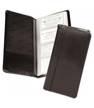 "Samsill Regal Leather Business Card Binder Holds 96 2"" x 3 1/2"" Cards, Black"