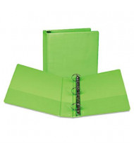 """Samsill 2"""" Capacity 8-1/2"""" x 11"""" Round Ring Fashion View Binder, Lime, 2-Pack"""