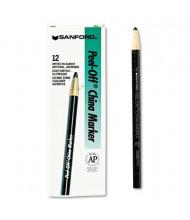 Sharpie Peel-Off China Marker, Black, 12-Pack