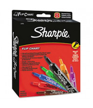 Sharpie Flip Chart Marker, Bullet Tip, Assorted, 8-Pack