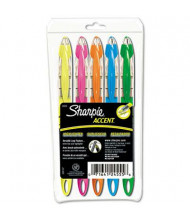 Sharpie Accent Liquid Chisel Tip Highlighter Pen, Assorted, 5-Pack