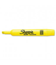 Sharpie Accent Tank Style Chisel Tip Highlighter, Yellow, 12-Pack