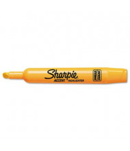 Sharpie Accent Tank Style Chisel Tip Highlighter, Orange, 12-Pack