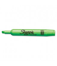 Sharpie Accent Tank Style Chisel Tip Highlighter, Green, 12-Pack