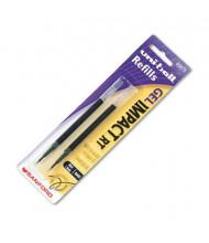 Uni-ball Refill for Bold Gel Impact RT Roller Ball Pens, Black Ink, 2-Pack