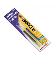Uni-ball Refill for Bold Gel Impact RT Roller Ball Pens, Blue Ink, 2-Pack