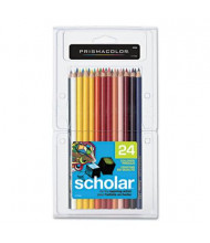 Prismacolor Scholar 3 mm Assorted Colors Woodcase Pencils, 24-Pack