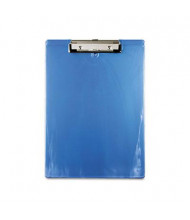 "Saunders 1/2"" Capacity 8-1/2"" x 12"" Recycled Plastic Clipboard, Ice Blue"