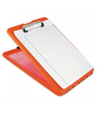 "Saunders 1/2"" Capacity 8-1/2"" x 12"" SlimMate Storage Clipboard, Orange"