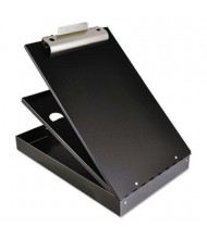 "Saunders 1"" Capacity 8-1/2"" x 12"" Cruiser Mate Aluminum Storage Clipboard, Black"