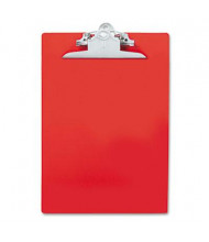 """Saunders 1"""" Capacity 8-1/2"""" x 12"""" Recycled Plastic Clipboard, Red"""