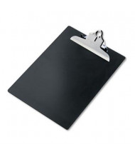 """Saunders 1"""" Capacity 8-1/2"""" x 12"""" Recycled Plastic Clipboard, Black"""