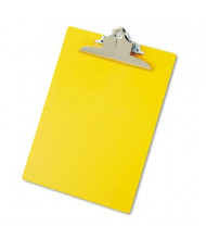 "Saunders 1"" Capacity 8-1/2"" x 12"" Recycled Plastic Clipboard, Yellow"