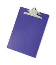 "Saunders 1"" Capacity 8-1/2"" x 12"" Recycled Plastic Clipboard, Purple"