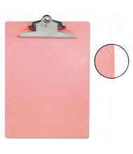 """Saunders 1"""" Capacity 8-1/2"""" x 12"""" Recycled Plastic Clipboard, Pink"""