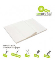 """Smart-Fab 9"""" x 12"""" White Disposable Fabric Sheets, 45/Pack"""