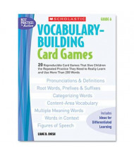 Scholastic Vocabulary Grade 6 Building Card Games, 80 pages