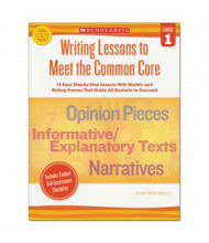 Scholastic Writing Lessons To Meet the Common Core Grade 1 Book, 64 Pages