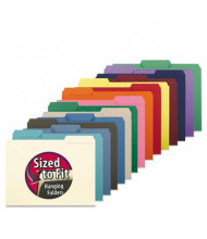Smead 1/3 Cut Top Tab Letter Interior File Folder, Aqua, 100/Box