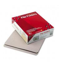 Smead Reinforced Straight Cut Top Tab Letter File Folder, Gray, 100/Box