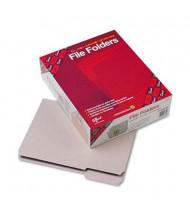 Smead Reinforced 1/3 Cut Top Tab Letter File Folder, Gray, 100/Box