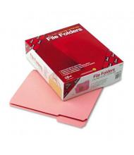 Smead Reinforced 1/3 Cut Top Tab Letter File Folder, Pink, 100/Box