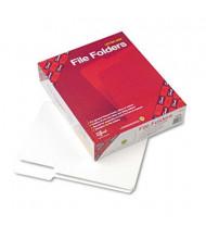 Smead 1/3 Cut Top Tab Letter File Folder, White, 100/Box