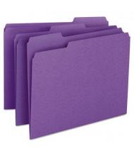 Smead 1/3 Cut Top Tab Letter File Folder, Purple, 100/Box
