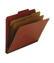 Smead Recycled 6-Section Letter 25-Point Pressboard Classification Folders, Red, 10/Box