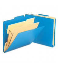 Smead 6-Section Letter Poly Classification Folders, Blue, 10/Box