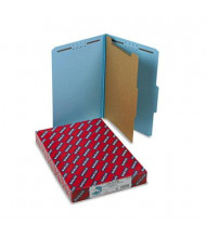 Smead 4-Section Legal 23-Point Pressboard Classification Folders, Blue, 10/Box