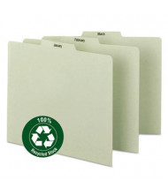 Smead Letter Monthly 1/3 Top Tab Recycled Index File Guide Set, Pressboard, 1 Set