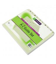 Smead Alphabetic 1/5 Top Tab Letter Index File Guide Set, Pressboard, 1 Set