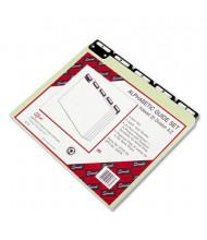 Smead Alphabetic Metal 1/5 Top Tab Letter Index File Guide Set, Pressboard, 1 Set